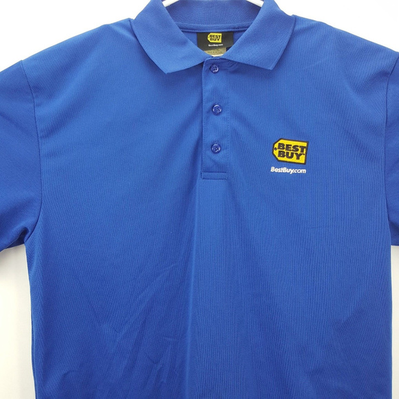 7e161bdf513 BEST BUY Other - Best Buy Employee Polo Shirt Large Blue Polyester